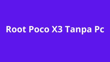Root Poco X3 Tanpa Pc