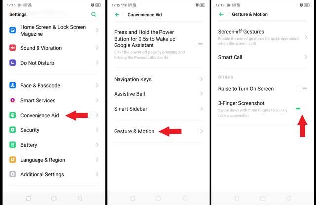 Cara Screenshot Samsung a50s